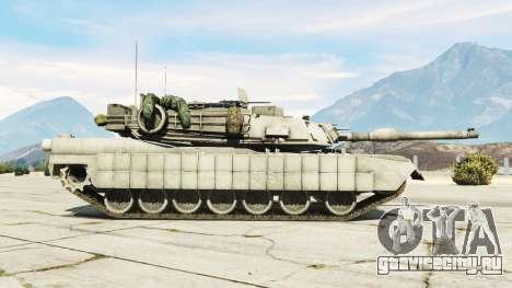 M1A2 Abrams v1.1 для GTA 5 вид слева