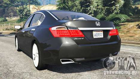 Honda Accord 2015 для GTA 5 вид сзади слева