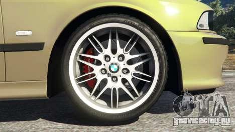 BMW M5 (E39) для GTA 5 вид сзади слева