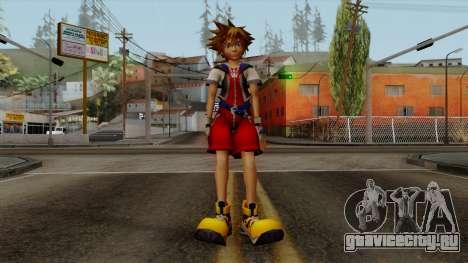 Kingdom Hearts 2 - Sora KH1 Costume для GTA San Andreas второй скриншот
