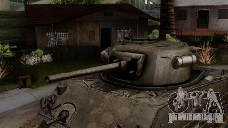 M4 Sherman from CoD World at War для GTA San Andreas вид справа