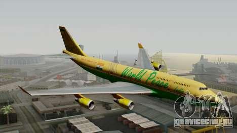 Boeing 747-400 World Peace для GTA San Andreas