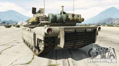 M1A2 Abrams v1.1 для GTA 5 вид сзади слева