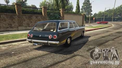 Chevrolet Caravan 1975 2.0 для GTA 5 вид сзади слева
