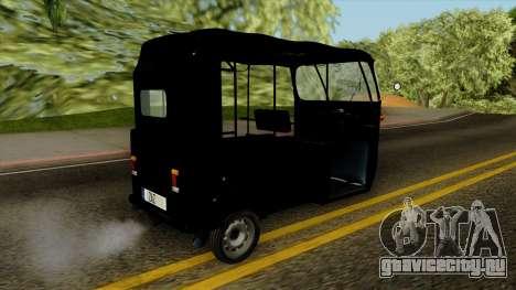 Indian Auto Rickshaw Tuk-Tuk для GTA San Andreas вид слева