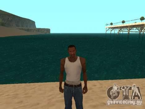 Тёмно-зелёная реалистичная вода для GTA San Andreas второй скриншот