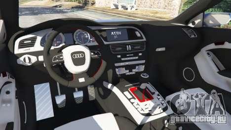 Audi S5 Coupe для GTA 5 вид спереди справа
