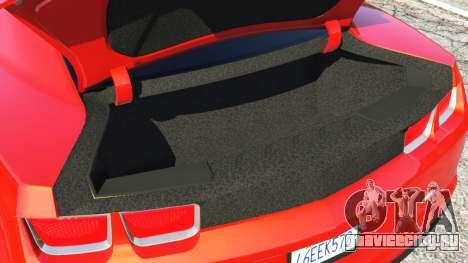 Chevrolet Camaro SS 2010 [Beta] для GTA 5 руль и приборная панель