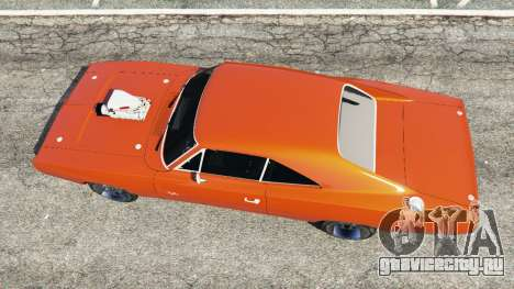 Dodge Charger 1970 Fast & Furious 7 для GTA 5 вид сзади