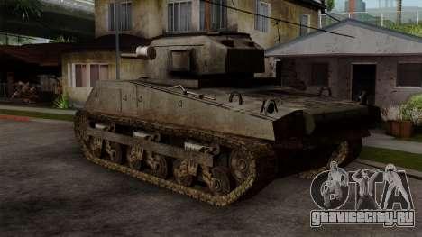 M4 Sherman from CoD World at War для GTA San Andreas вид слева
