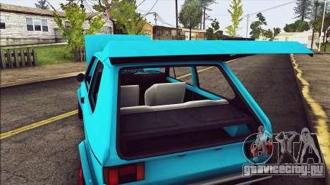 Volkswagen Golf MK1 для GTA San Andreas вид сбоку