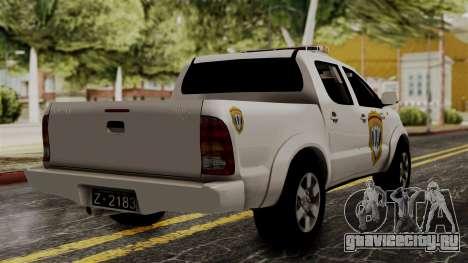 Toyota Hilux CICPC 2007 для GTA San Andreas вид слева