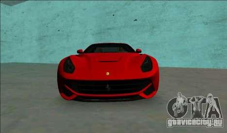 Ferrari F12 Berlinetta для GTA Vice City вид справа