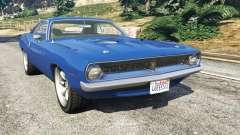 Plymouth Barracuda 1970 для GTA 5