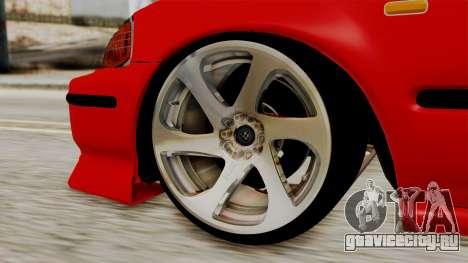 Honda Civic Sedan для GTA San Andreas вид сзади слева