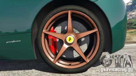 Ferrari 458 Italia 2009 v1.5 для GTA 5 вид сзади справа
