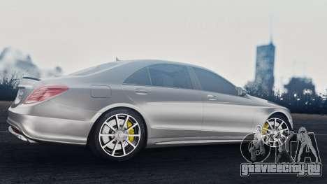 Mercedes-Benz W222 S63 AMG для GTA San Andreas вид сзади