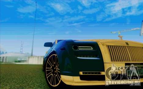 Rolls-Royce Ghost Mansory для GTA San Andreas вид сверху