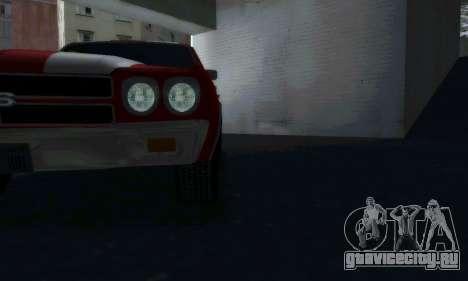 Chevrolet Chevelle SS [Winter] для GTA San Andreas вид сзади слева