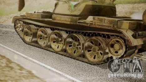 T-55 для GTA San Andreas вид сзади слева