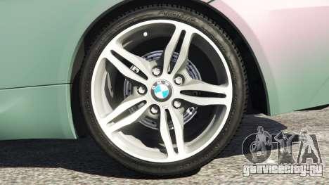 BMW M6 (E63) Tunable для GTA 5 вид сзади справа
