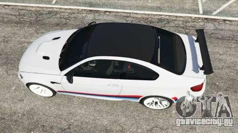 BMW M3 GTS для GTA 5 вид сзади