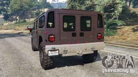 Hummer H1 v2.0 для GTA 5 вид сзади слева