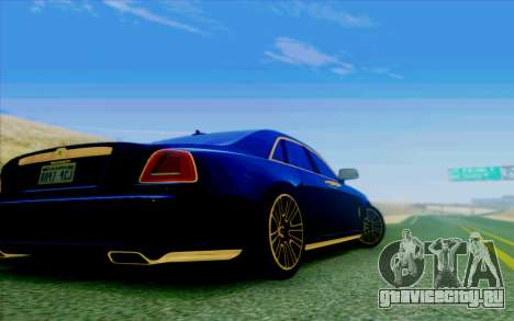 Rolls-Royce Ghost Mansory для GTA San Andreas вид изнутри
