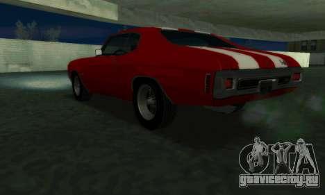 Chevrolet Chevelle SS [Winter] для GTA San Andreas вид слева