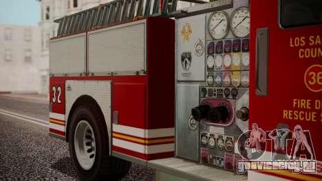 GTA 5 MTL Firetruck IVF для GTA San Andreas вид справа