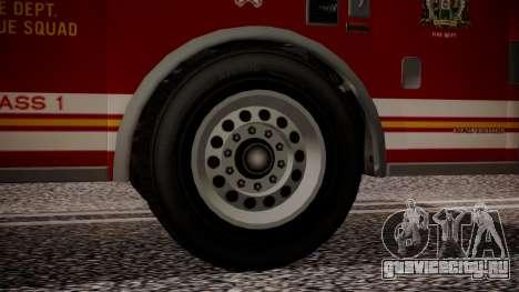 GTA 5 MTL Firetruck IVF для GTA San Andreas вид сзади слева