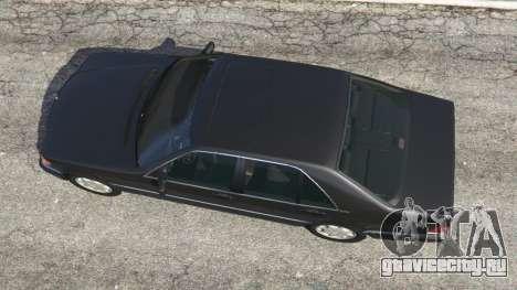 Mercedes-Benz S600 (W140) для GTA 5 вид сзади