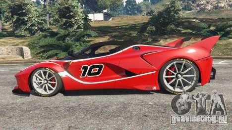 Ferrari FXX-K 2015 v1.1 для GTA 5 вид слева