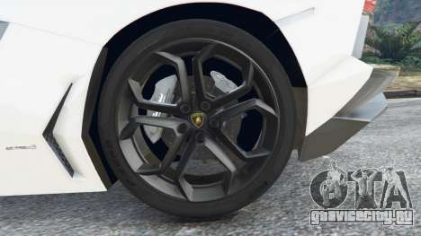 Lamborghini Aventador LP700-4 Police v4.5 для GTA 5 вид сзади справа