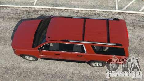 Chevrolet Suburban 2015 для GTA 5 вид сзади