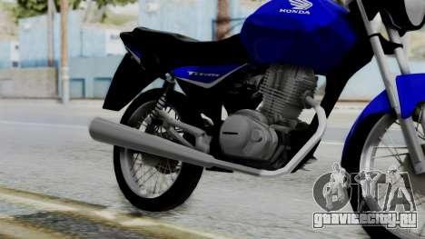 Honda CG Titan 2014 для GTA San Andreas вид справа