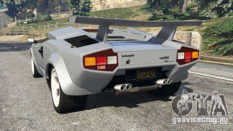 Lamborghini Countach LP500 QV 1988 v1.2 для GTA 5