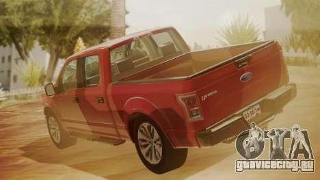 Ford F-150 2015 Stock для GTA San Andreas вид слева