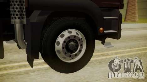 MAN TGS 8x4 Dumper для GTA San Andreas вид сзади слева