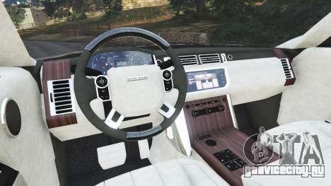 Range Rover Vogue 2013 v1.2 для GTA 5 вид сзади справа