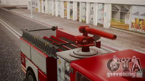 GTA 5 MTL Firetruck IVF для GTA San Andreas вид сзади