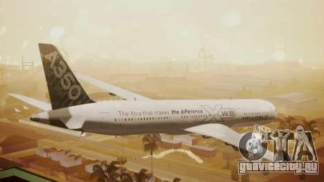 Airbus 350-900XWB Around The World для GTA San Andreas вид слева