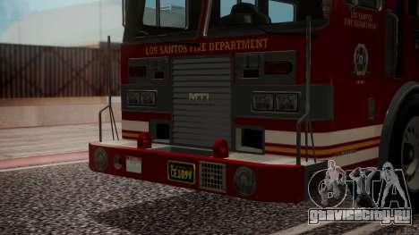 GTA 5 MTL Firetruck IVF для GTA San Andreas вид изнутри