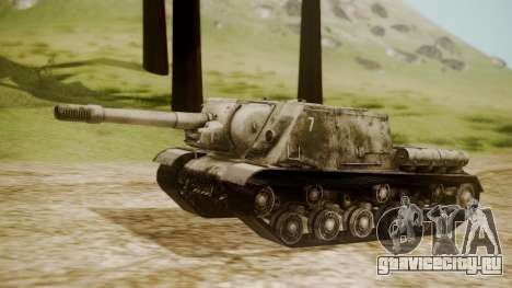 ISU-152 Snow from World of Tanks для GTA San Andreas