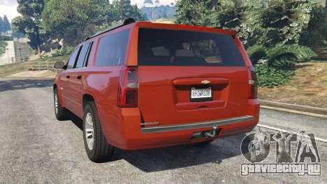 Chevrolet Suburban 2015 для GTA 5 вид сзади слева