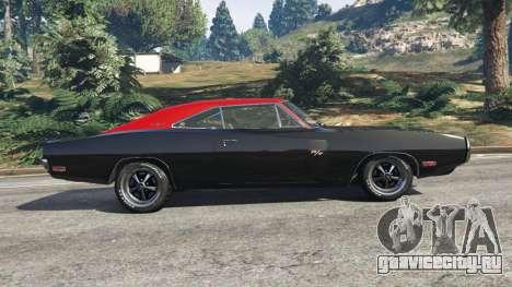 Dodge Charger RT 1970 v3.1 для GTA 5 вид слева