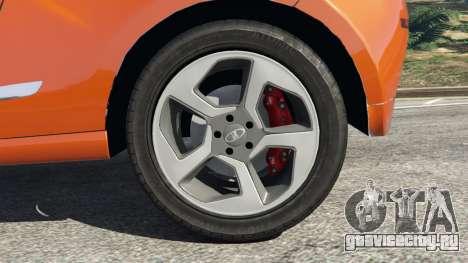 Lada XRAY для GTA 5 вид сзади справа