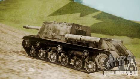 ISU-152 Snow from World of Tanks для GTA San Andreas вид слева
