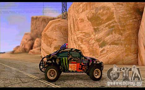 VW Baja Buggy Gymkhana 6 для GTA San Andreas вид сзади слева