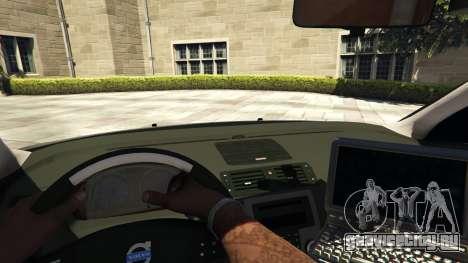 Volvo C30 Unmarked Police для GTA 5 вид сзади